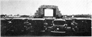 """First drive-in theater Camden NJ 1933"" by Unknown - Retrieved October 24, 2014 from Electronics magazine, McGraw-Hill Publishing Co., New York, Vol. 6, No. 8, August 1933, p. 209 on Google Books. Licensed under Public Domain via Commons - https://commons.wikimedia.org/wiki/File:First_drive-in_theater_Camden_NJ_1933.jpg#/media/File:First_drive-in_theater_Camden_NJ_1933.jpg"